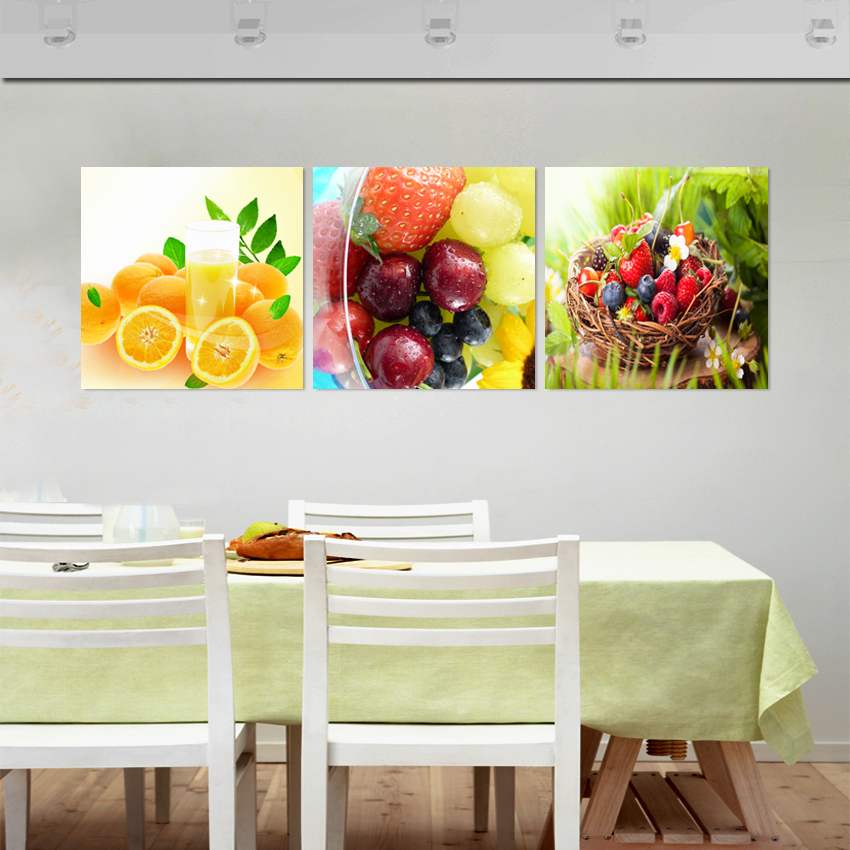 Kitchen Pictures Frames: Fallout Fruit Kitchen Decorative Pictures Oil Triptych