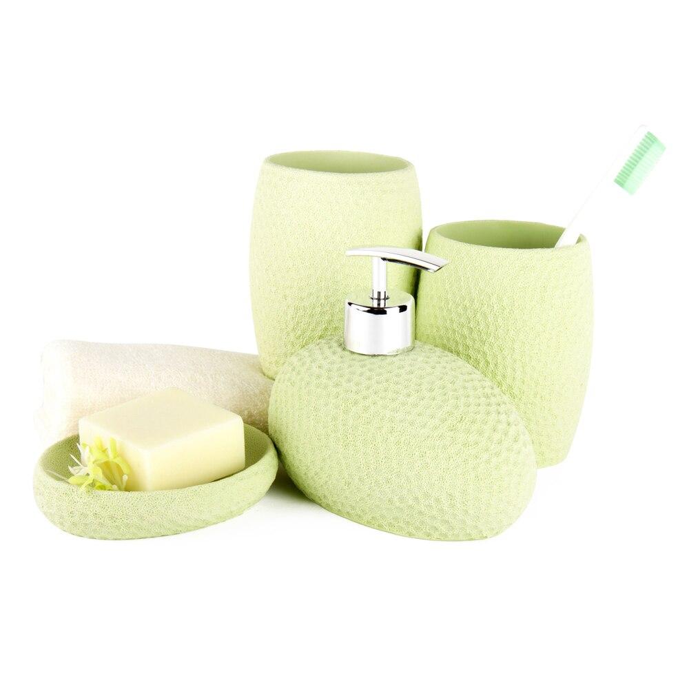 Noary Fashion, набор аксессуаров для ванной из смолы, набор из 4 предметов, Набор принадлежностей для ванной, набор из 4 предметов, коралловый риф, узор, яркие цвета, DecoTalk