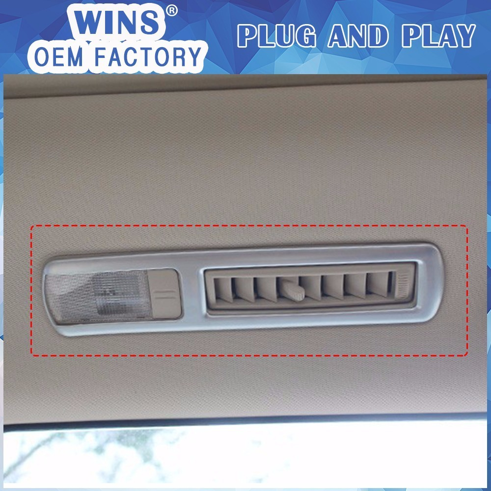 Car styling For Toyota Highlander 2015 ABS Chrome rear reading lamp Cover Trim Decorative Reading light covers Frame Decoration