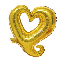 FBIL Heart Shape 18 Inch Foil Birthday Party Supplies Wedding Decor Balloons Lot Gold 50pcs