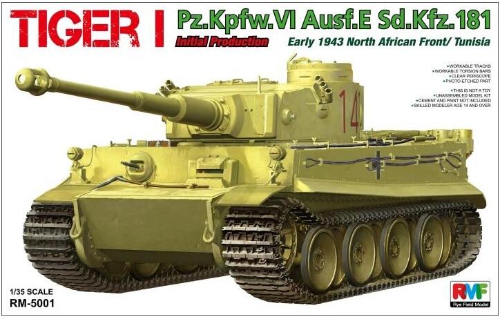 RMF RM 5001 1 35 TEGER I Pz Kpfw VI Ausf E Sd Kfz 181