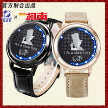 Detective Conan anime Kid the Phantom Thief  LED waterproof touch screen watch case closed detective conan kaito kid gentleman thief white suit cosplay costume with hat glass