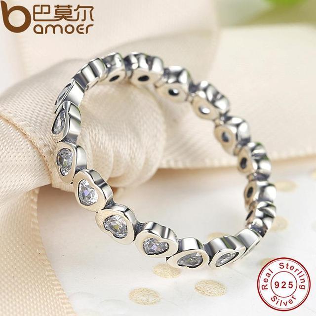 Sterling Silver Love Heart Forever Ring