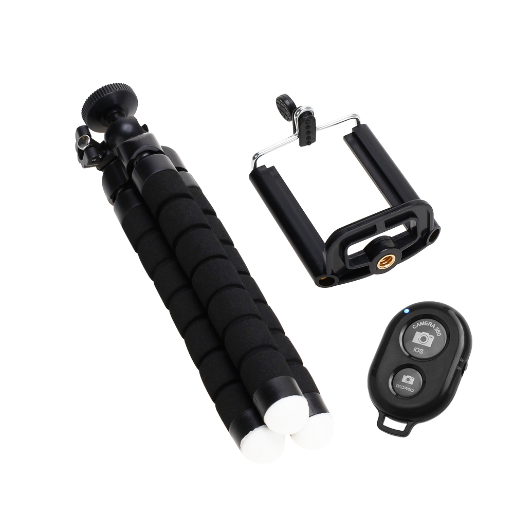 Tripod for phone tripod monopod selfie remote stick for smartphone iphone tripode for mobile phone holder bluetooth tripods (15)