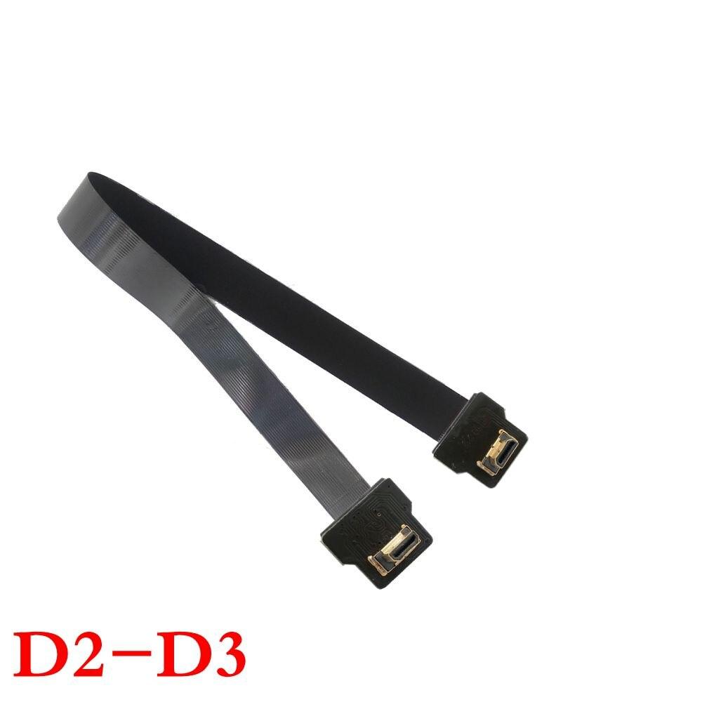 Micro HDMI Man till HDMI Man 90 Degree FPC Flat FPV HDMI Kabel 10cm - Datorkablar och kontakter - Foto 5