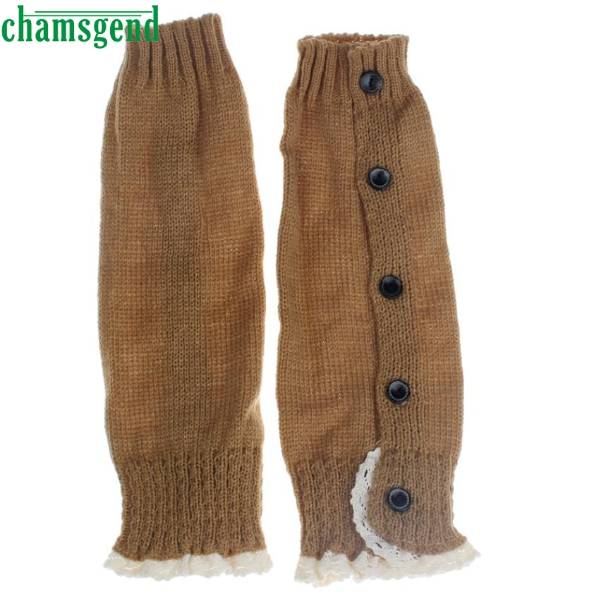 CHAMSGEND Best seller drop ship Kids Girl Crochet Knitted Lace Boot Toppers Leg Warmer Socks Feb7 S30