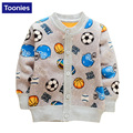 2016 Autumn Baby Cashmere Cardigan Fleece Jacket Children Clothing Cartoon Pattern Warm Thickness Coat Single Breasted Sweater