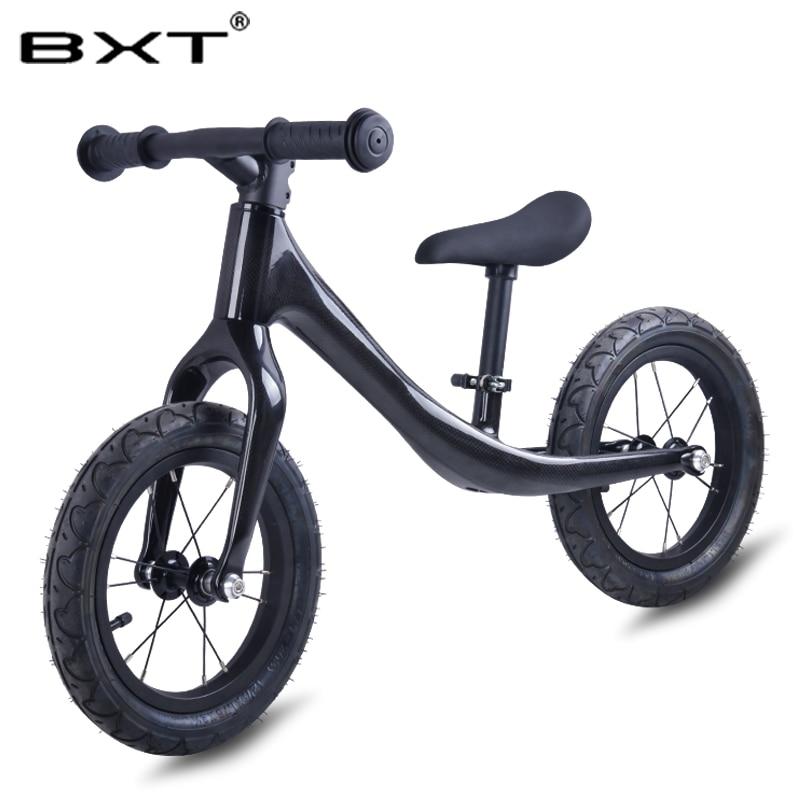 2018 BXT новый детский двухколесный велосипед для От 2 до 6 лет без педали полный велосипед для детей ходунки с Углеродные, для колес велосипед