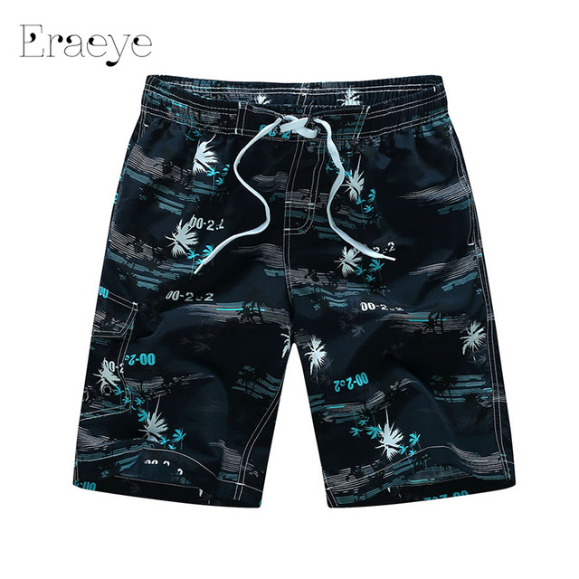 ERAEYE M - 6XL Plus Size Summer Leisure Masculina Mens Board Shorts  Loose Fast Dry Beach Short Pants Beach Wear Quick Dry
