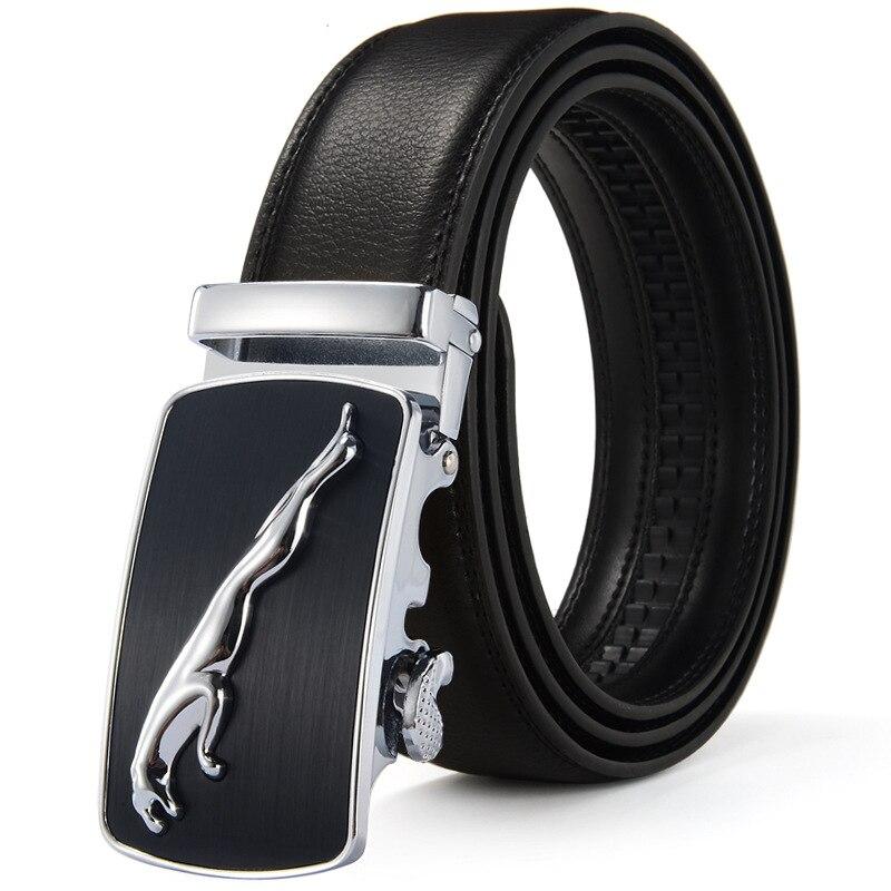 Fashion Brand Cowskin Belt Genuine Leather Men Alloy Luxury Jaguar Belt Business 3.5cm Belts For Men