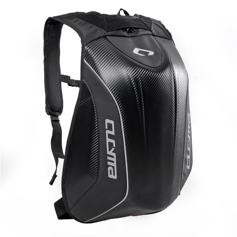 a208c1a83df8 US $60.33 |CUCYMA Motorcycle Carbon fibre Racing Bag Motocross Computer  Black Carbon Fiber Hard Shell Backpack-in Top Cases from Automobiles & ...