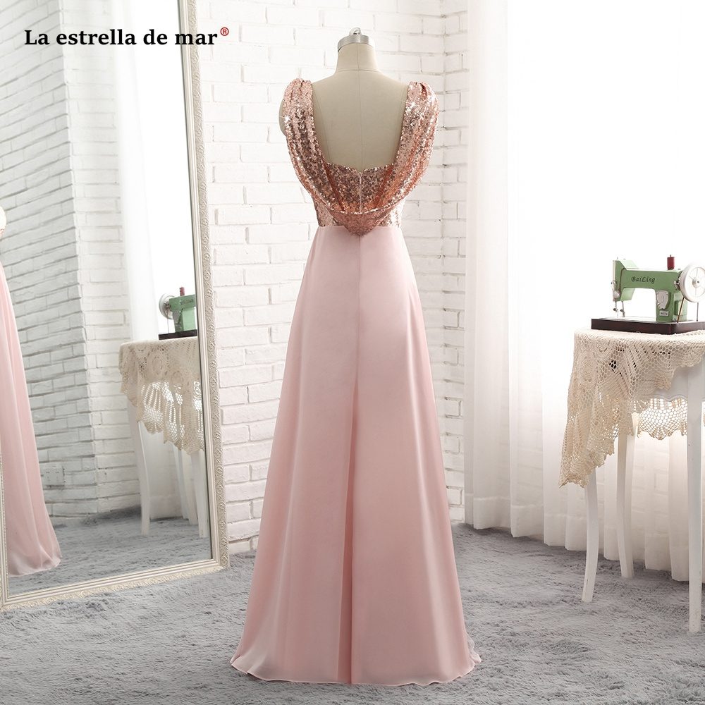 Wedding Party Dress Nice Pink Dress Bridesmaid Elegant A Line V Neck Spaghetti Strap High Low Formal Party Gowns For Wedding Guest Robe De Soiree 2019
