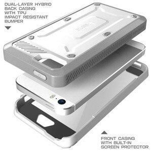 Image 5 - SUPCASE ل فون SE 5 5 s حالة UB برو كامل الجسم وعرة الحافظة كليب الغطاء الواقي مع المدمج في واقي للشاشة حالة