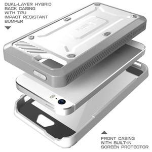 Image 5 - Supcase for iphone se 5 5 s 케이스 ub pro 전신 견고한 홀스터 클립 보호 커버 내장 스크린 보호 케이스 포함