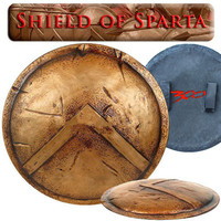 Stainless Steel Medieval Shield Cosplay Props Three Hundred Spartan Shields Home Furnishing Articles Weapons Model G890