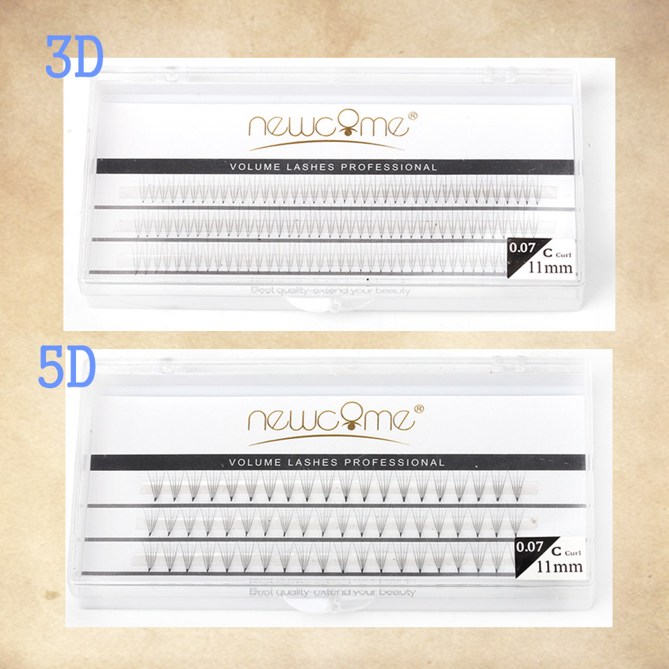 3D 5D Pre Made Fans for Volume Eyelash Extension Bundles Individual Bloom Cilia Cluster Beams Short Stem Pre made Fans Lash in False Eyelashes from Beauty Health