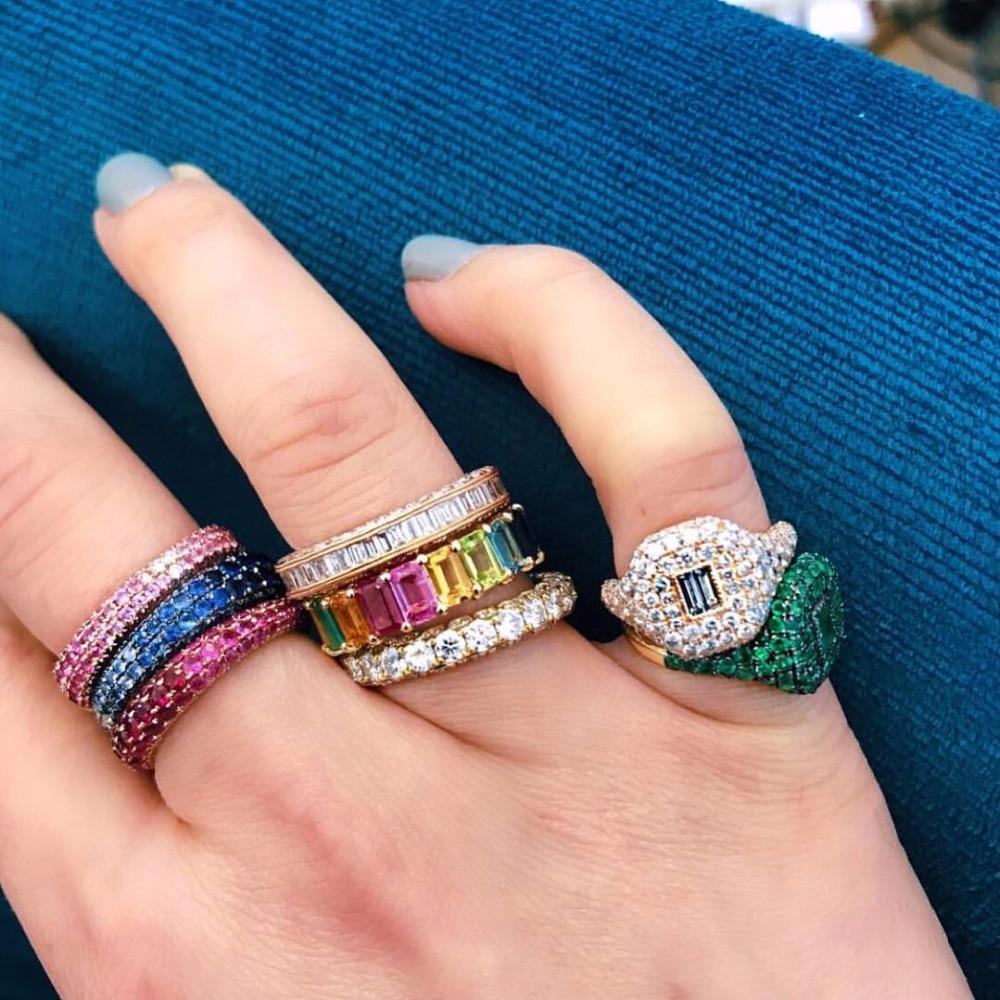 """קשת בגט מעוקב zirconia cz גולדפילד אירוסין בנד טבעת עבור נשים ארה""""ב מכירה לוהטת זרוק חינם נשי תכשיטים"""