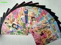 HAPPYXUAN 5 livros/lote Adesivo Chegada Personagens Dos Desenhos Animados Etiqueta de Papel Livro 6 páginas Princesa Dora Crianças Menina Brinquedos Clássicos