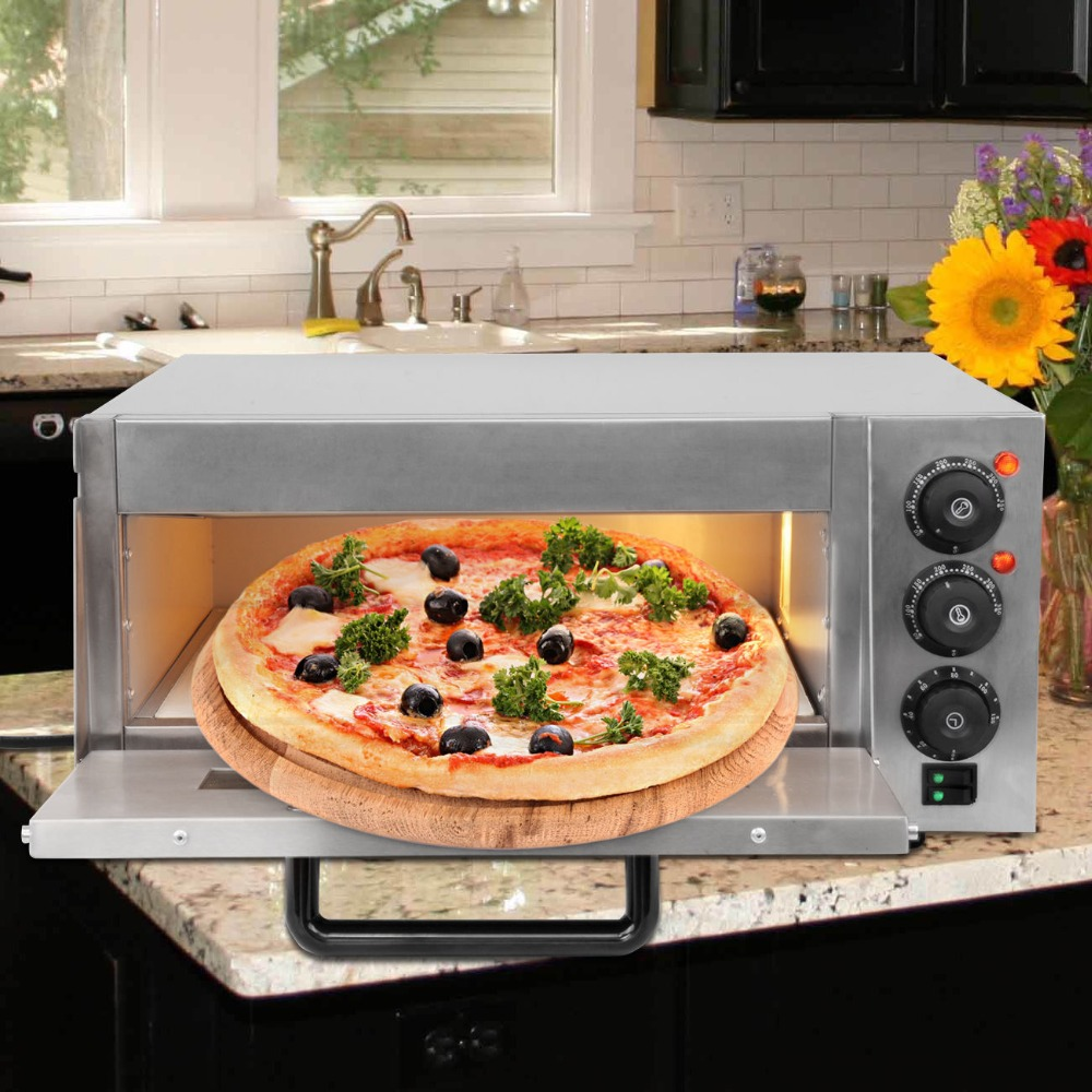 (Ship from EU) 16 inch Electric Pizza Oven Deck Commercial Baking Oven Fire Stone Catering Cake pfml nb400 stainless steel high temperature deck baking pizza oven machine for pizza shop
