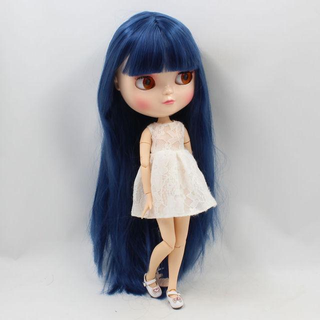 ICY Neo Blythe lutka Tamnoplava kosa Azone spojeno tijelo 30cm