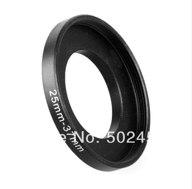 NEW 25mm-37mm BLACK Aluminum metal selling 25-37 mm 25 to 37 25mm to 37mm Step Up Ring Filter Adapter PROMOTION HOT Wholesale!!!