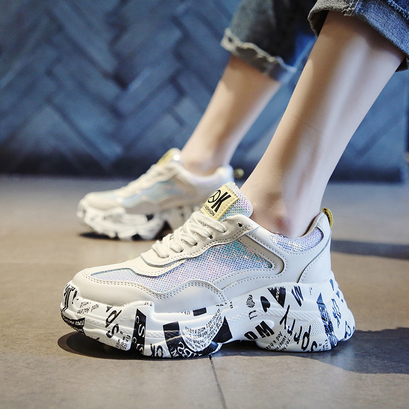 INS hot shoes ladies 2019 new Korean version of ulzzang Harajuku wild casual sports shoes old shoes 35 39 in Women 39 s Vulcanize Shoes from Shoes