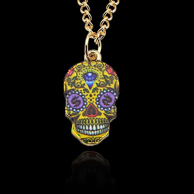 Colorful Skull Pendant