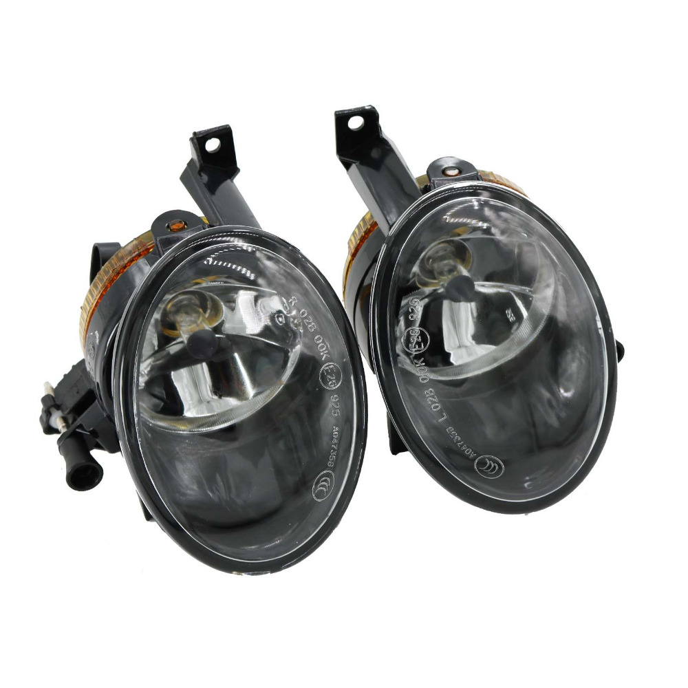 2Pcs For VW Touareg 2011 2012 2013 2014 2015 Car-styling Front Bumper Halogen Car Fog Light Fog Lamp right side for vw polo vento derby 2014 2015 2016 2017 front halogen fog light fog lamp assembly two holes