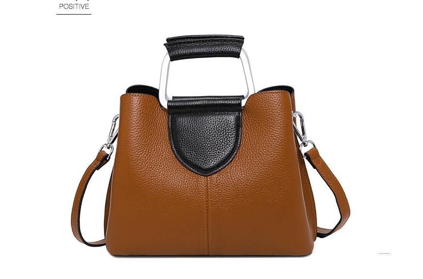 2018 spring and summer new women's genuine leather messenger bag first layer cowhide leather lady's shoulder bag tote bag qiaobao 2018 new korean version of the first layer of women s leather packet messenger bag female shoulder diagonal cross bag