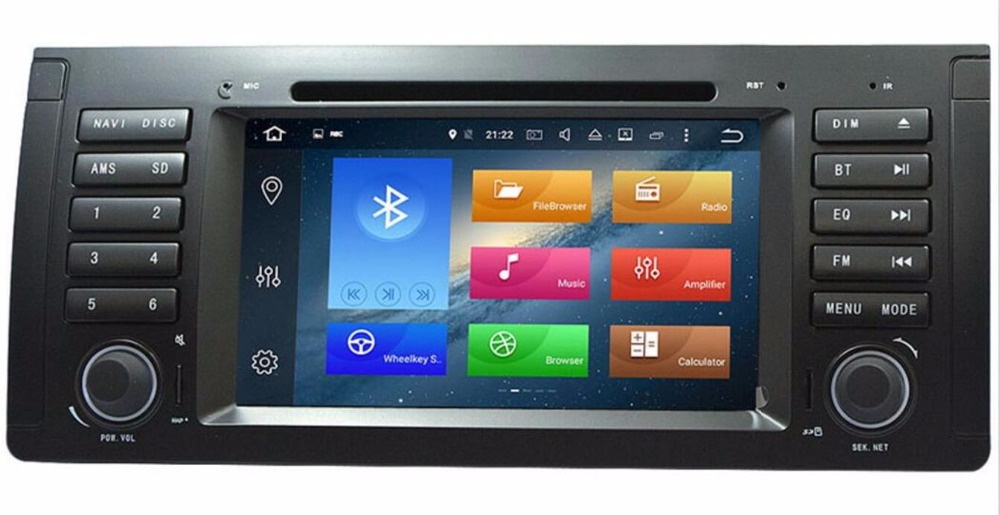 7 INCH AutoRadio 1 Din Android 8.0 Car DVD Player for BMW E39 bmw x5 e53 1996-2007 Multimedia Stereo GPS Navigation Wifi 4G+32GB image