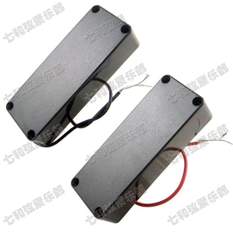 A Set of 2 Pcs Black Sealed 5 string Humbucker Bass Guitar Pickups guitar accessories