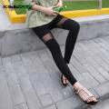 KISSyuer Sexy Thigh Black Transparent See through patchwork Mesh leggings Fitness shiny Slim Women leggings KL124