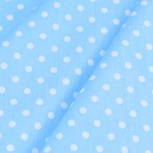 100% хлопок саржевая ткань зеленый розовый серый синий CAMLE белый горошек 6 мм ткань для DIY кроватки постельные принадлежности Подушка пэчворк ...
