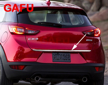 For Mazda CX-3 CX3 2014-2018 Sticker Stainless Steel back door Tailgate trim 1pcs Car Accessories цена