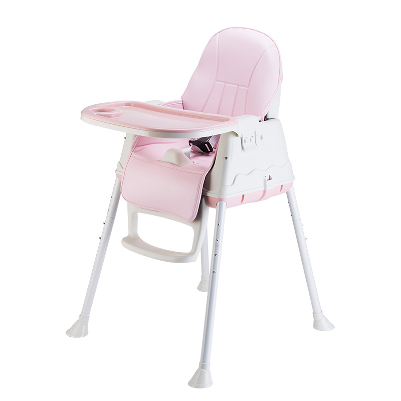 New Baby Adjustable Dinner Chair Cute Simple Durable Safety Seat Environmental Protection PP Children Indoor Outdoor Highchair