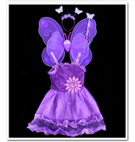 Fashion Baby Girls Fancy Costumes Halloween Christmas Princess Butterfly Fairy Costumes for Girls Birthday Tutu Outfits