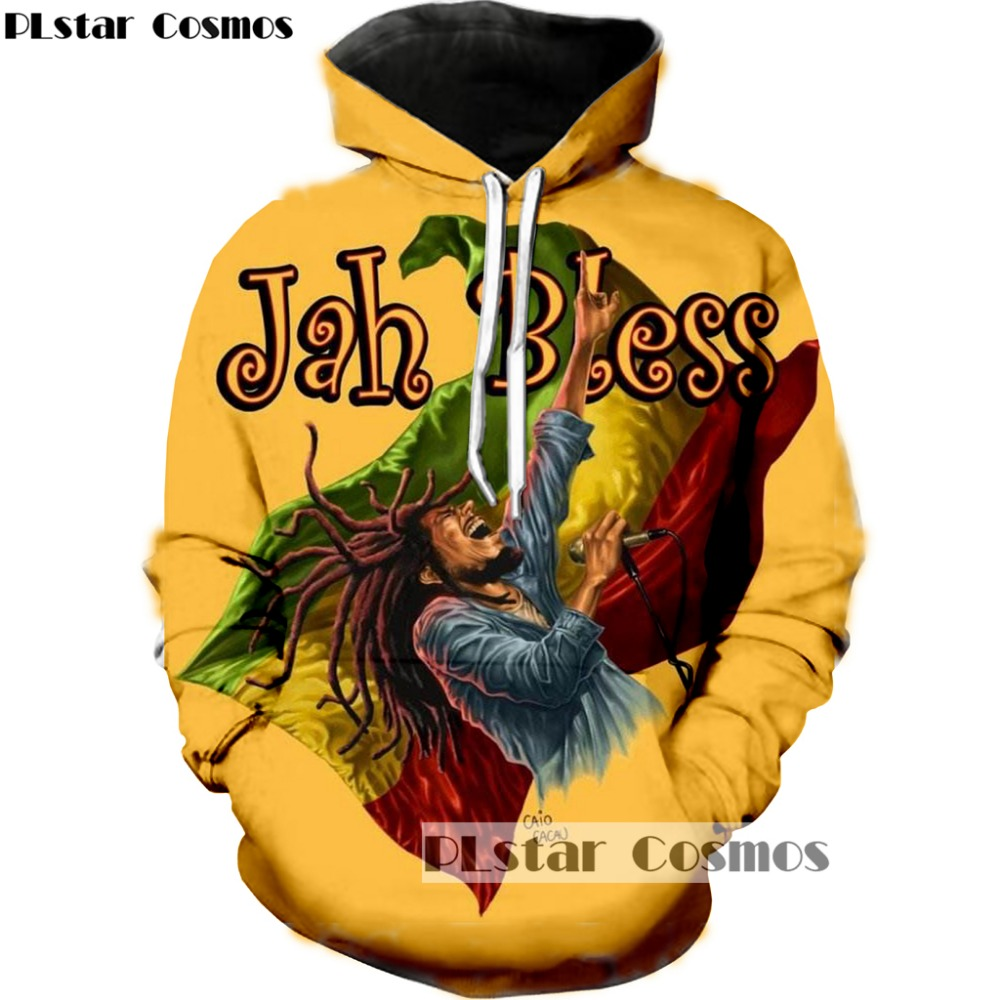 PLstar Cosmo Reggae Star Bob Marley Hoodies Men Women 3D Sweatshirts Pullover Tracksuit Sudadera Hombre hip hop Hoodie Dropship in Hoodies amp Sweatshirts from Men 39 s Clothing
