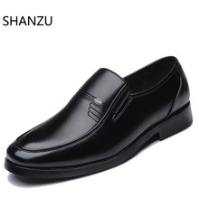 Men Dress Leather Shoes Slip On Fashion Italian Male Formal Oxford for Flats Luxury Pointed Toe Casual For 631