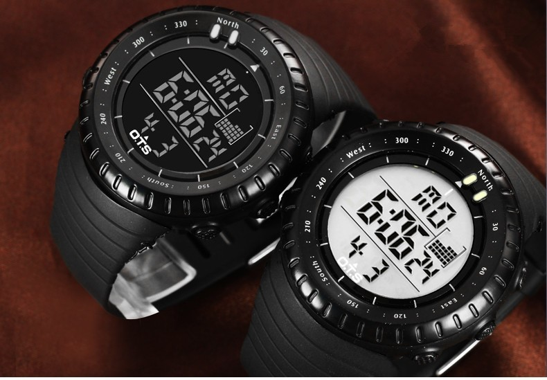 military watch black and white