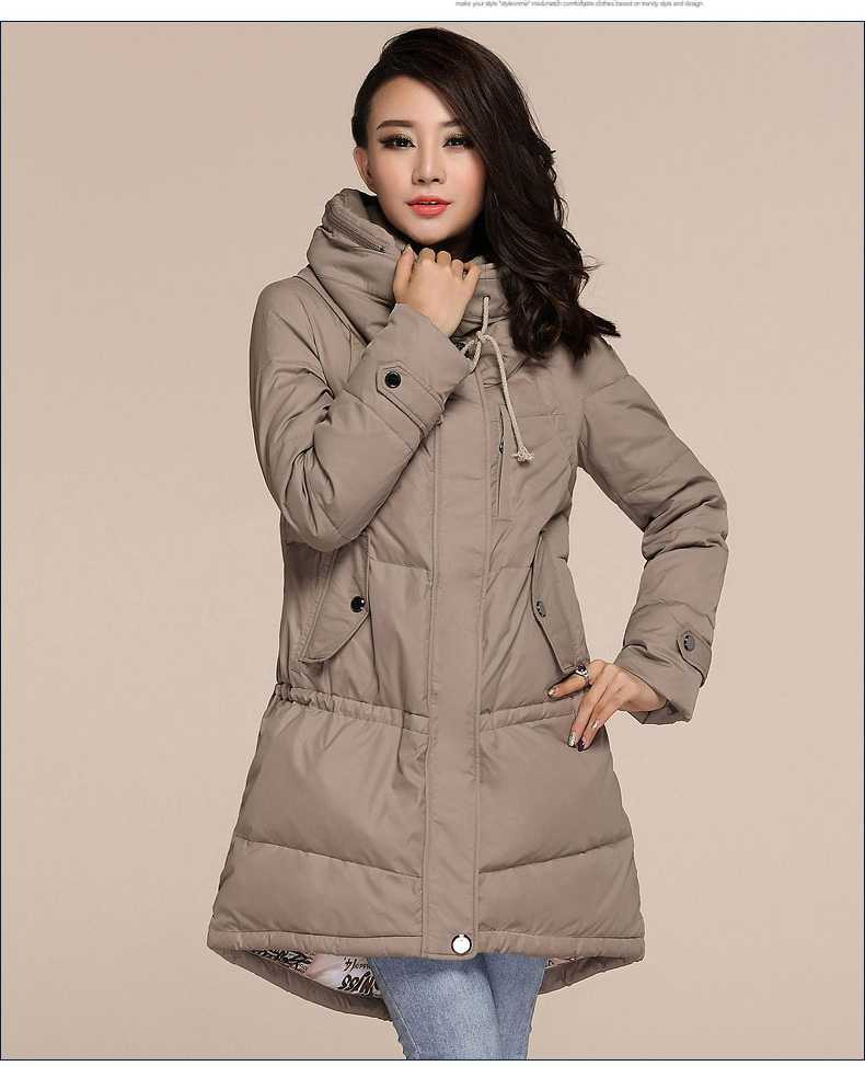 Plus Size Winter Coats 2015 Women Hooded Loose Jackets Winter Ladies Warm Thicken Wadded Parkas Overcoats H4662 new 2015 winter hooded floral wadded parkas coats women plus size slim overcoats ladies cotton padded jackets h4493