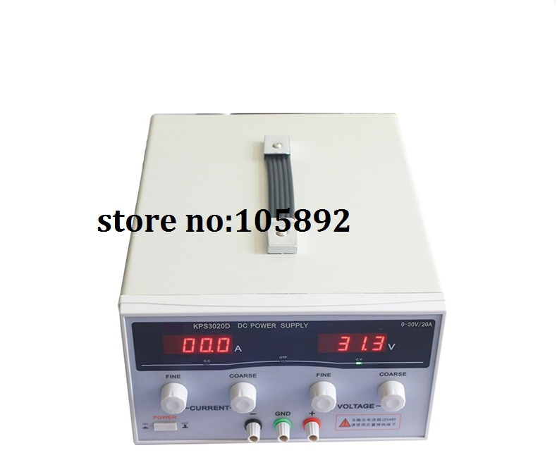 Free shipping high power Adjustable Digital DC Power Supply 30V/20A for scientific research Laboratory Switch DC power supply kps3020d high precision adjustable digital dc power supply 30v 20a for scientific research laboratory switch dc power supply