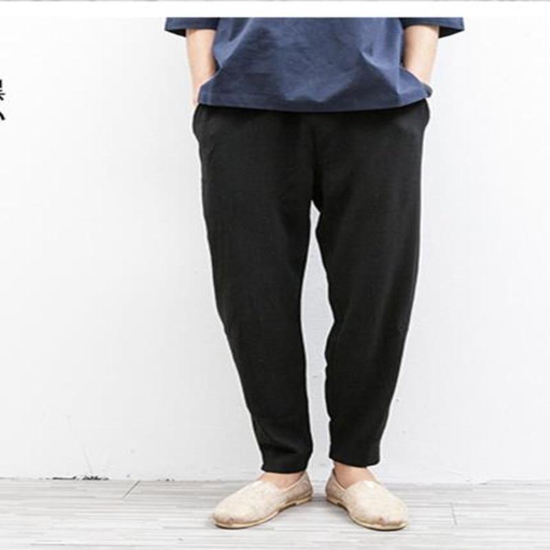 New2018 nuovo Maschio pantaloni casual, lino piedi harem pants uomini