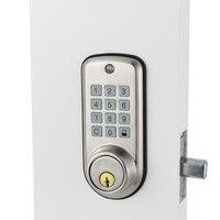 Дешевый умный дом цифровой дверной замок, водонепроницаемый Интеллектуальный БЕСКЛЮЧЕВОЙ пароль Pin код дверной замок электронный засов-за...