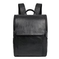 J.M.D Новое поступление натуральный кожаный рюкзак мужские Ноутбук Рюкзак Школьная Сумка