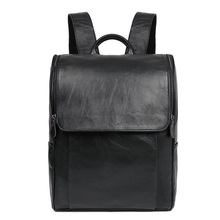 J.M.D New Arrival Real Leather Backpack Mens Laptop School Bag
