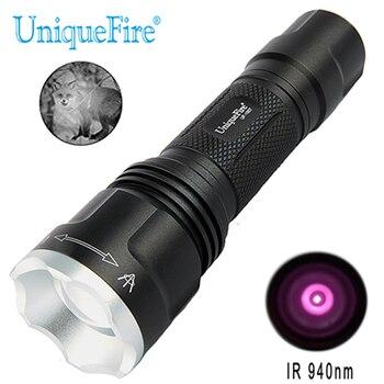 Uniquefire 1507 Đèn LED Cho Săn Bắn IR 940NM 20 Mm Thấu Kính Lồi 3 Chế Độ Đèn Hồng Ngoại Quan Sát Ban Đêm Đèn Pin Sạc đèn