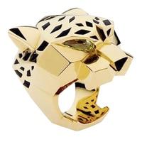 Seven Seas Sale BELLA 18k Gold GP Rhinestones Studded Finger Leopard Ring For Party Rose Golden