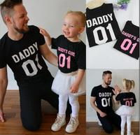Father S Day Summer Family Matching Clothes And Daughter Matching T Shirt Clothes Letter Short Sleeve