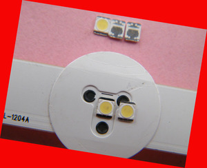 Image 2 - 350piece/lot for repair LG LCD TV LED backlight Article lamp SMD LEDs 1W 3v 3528 2835 Cold white light emitting diode
