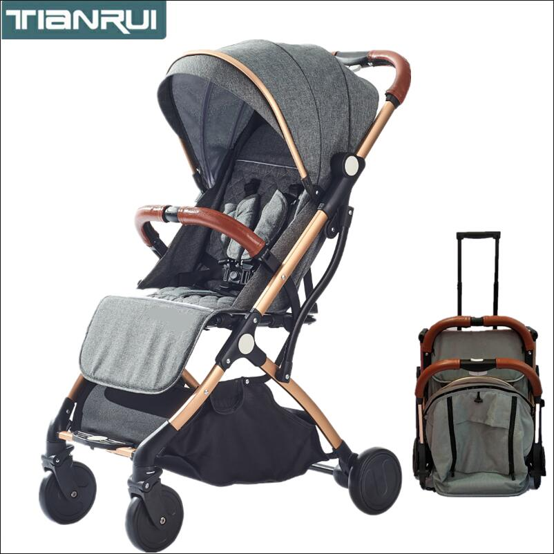 TIANRUI baby stroller folding portable trolley umberlla mini lightweight stollers stroller on the plane